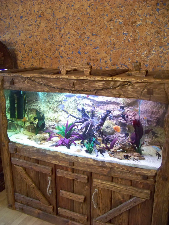 Облицовка аквариума своими руками